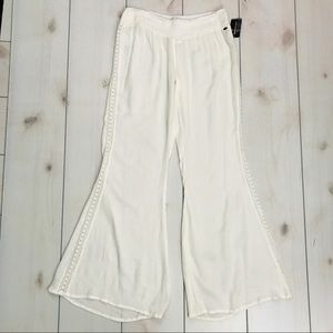 NWT O'Neill White Reese Lightweight Wide Leg Pants